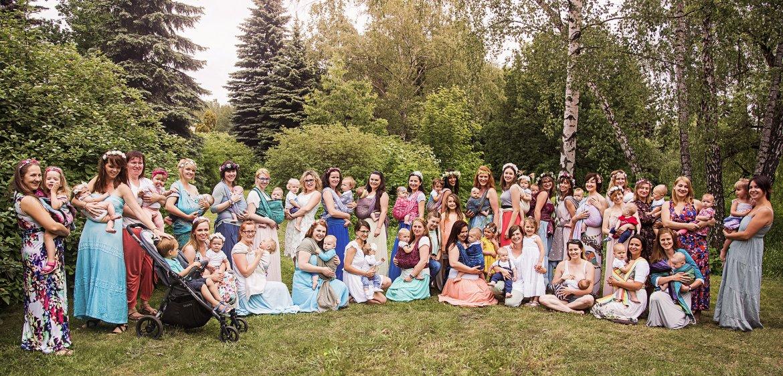 Sesja chustowa w Parku Śląskim   Babywearing session