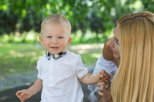 Dziecko podczas sesji lifestylowej