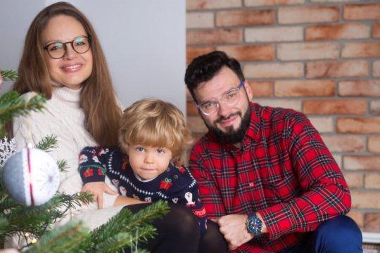 świąteczna sesja rodzinna w domu Katowice